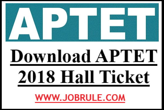 APTET 2018 Hall ticket Download