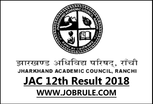 Jharkhand 12th Result 2018