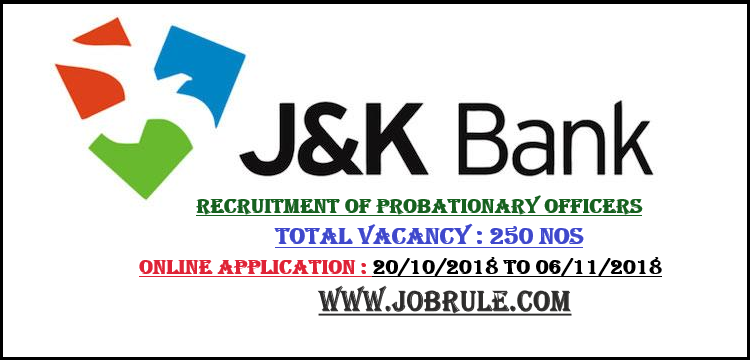 J&K Bank Job 2018