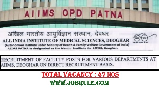 AIIMS Deoghar Faculty Job 2020
