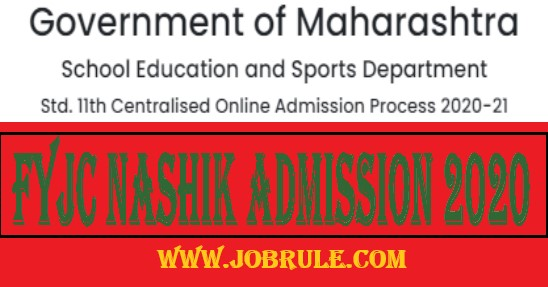 FYJC Nashik Admission Merit List 2020