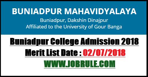 Buniadpur College Admission