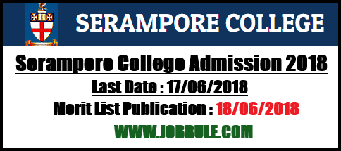 Serampore College Merit List 2018