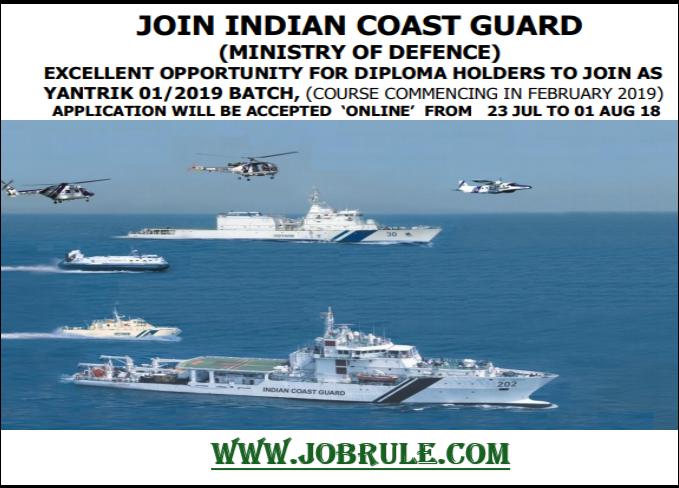 Coast Guard Yantrik Job 2018