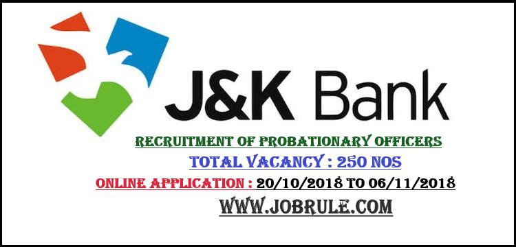 J&K Bank Job 2018