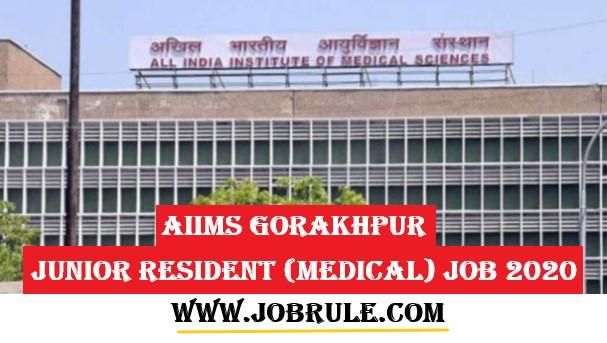 AIIMS Gorakhpur Job 2020