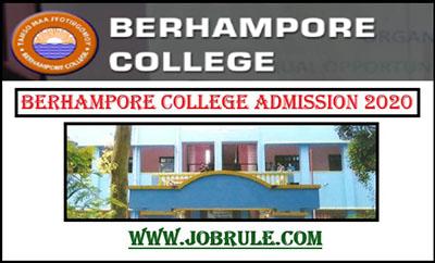 Berhampore Commerce College Admission Merit List 2020
