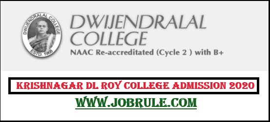 Krishnagar Dwijendralal DL Roy College UG Admission merit list 2020