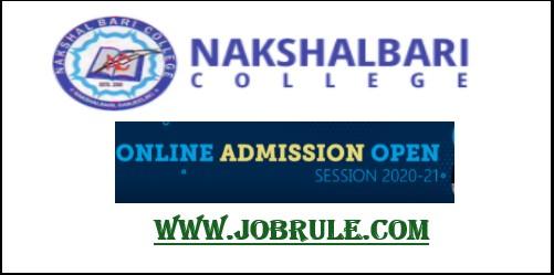 Nakshalbari College UG Admission provisional merit list 2020